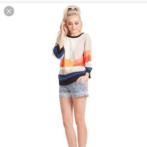 Trina Turk sunset sweater size S